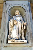 Statue of Francesco Redi, Uffizi, Florence Firenze, UNESCO World Heritage Site, Tuscany, Italy, Europe