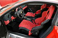 Car, Ferrari 360 Challenge Stradale, model year 2003_, roadster, coupe, red, interior view, Interior view, seats, Front seats, Driver's seat , techniq...