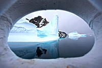 Iceberg detail through ships bow in and around the Antarctic Peninsula during the summer months More icebergs are being created as global warming is c...