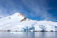 Paradise Bay, Antarctic Peninsula, Antarctica, Southern Ocean MORE INFO Paradise Bay is the location of two research stations, the Argentinan scientif...