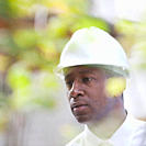 Serious Black man in hard_hat