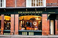 Ede and Ravenscroft traditional academic Tailors, Outfitters and Robemakers, Silver Street, Cambridge, England, UK