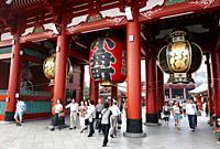 Sensoji Temple, Asakusa, Tokyo, Japan.