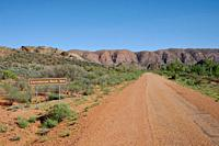 Australia, Road leading to Corroboree Rock Conservation Reserve