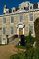 Sausmarez House mansion front entrance Sausmarez Manor ST MARTIN GUERNSEY