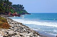 The coast, Varkala, Kerala, India