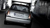 Mini Cooper car speeding in a tunnel, Castelldefels, Barcelona, Spain  Car: Mini Cooper