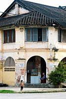 Colonial housing, Kampot, Cambodia