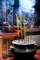 incense sticks in the Taoist Jade Emperor Pagoda Chua Ngoc Hoang  Saigon or Ho Chi Minh City, Vietnam, Asia