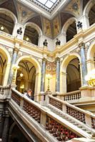 National Museum Národni Muzeum  Interior Corridors  Prague  Czech Republic  Neo-Reinassance building that closes Wenceslao's Square raisid in the Seco...