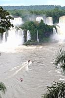 Iguazu waterfalls seen from the Brazilian side