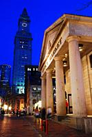 Custom House and Quincy Market, Dusk, Boston