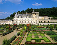 Chateau de Villandry _ View of the 16th century chateau and gardens