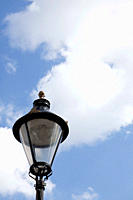 Streetlight and sky, London