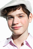 Boy wearing a flat cap