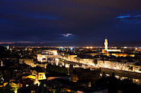 Night cityscape, Florence, Italy