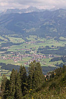 Germany, Allgaeu, Bavaria, View of fischen area