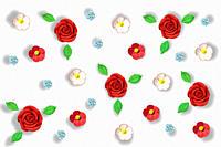 Flowers made of sugar