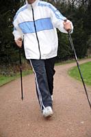 Male Nordic walker