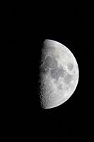 The moon at half phase