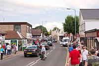 People in the high street in Wroxham , Norfolk , England , Great Britain , Uk