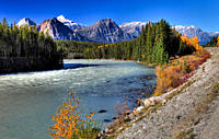 Athabasca River, Jasper National Park, Alberta, Canada