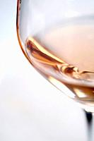 Glass of rosé wine, Bandol AOC, Var, Provence-Alpes-Côte d´Azur, France