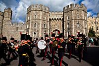 Changing of the Guard Ceremony, Windsor Castle, Berkshire, England