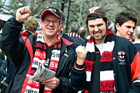 Australian Football League Grand Final supporters, Melbourne Cricket Ground, Melbourne, Victoria, Australia
