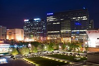 Night Scene of A Group of Buildings in Zhongguancun Science and Technology Park,Beijing
