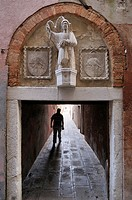 Venice  Italy  Narrow Calle in Castello