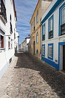 Cobbled street in Sines  Alentejo  Portugal  Europe
