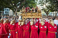 Semana Santa (Holy Week) celebrations. Malaga. Andalucia. Spain. Europe. 2010