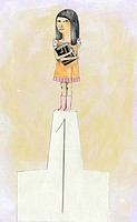 A young girl standing on the top of a podium (thumbnail)
