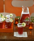 Pomegranate Iced Tea for a Party