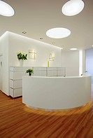 Interior view of a newly established dental practice, registration, Germany, Europe
