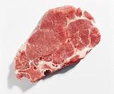 Pork collar steak with bones