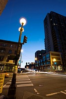 Seneca Street Off-ramp - Alaskan Way Viaduct, West Edge neighborhood  Intersection of Seneca Street and 1st Avenue, early evening  Downtown Seattle, W...