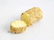 Caboc, Scottish pasteurised cows milk cheese shaped into a log and rolled in pinhead oats