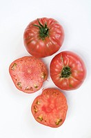 Close_up of heirloom tomatoes