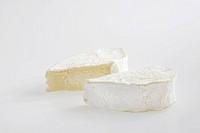 Slice heart of French Coeur de Neufchatel AOC cow´s milk cheese