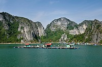 Floating village, Halong Bay, Vietnam, Southeast Asia