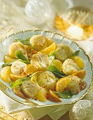 Scallops and orange salad