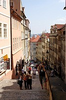 Steps leading up to Prague Castle