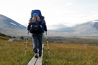 Hiking, Kungsleden, Lapland, Sweden, Europe