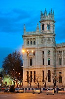 Night photography, Communications Palace of Madrid, turned into the City Council