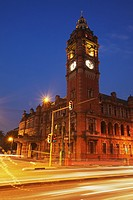 City Hall at dusk, Pietermaritzburg, KwaZulu-Natal, South Africa