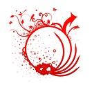 decorative design red