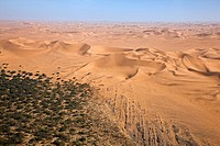 Flight over the dunes of the Namib desert, Namibia, Africa