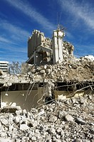 Ruins from the demolition of a post office building, Angererstrasse 9, economic crisis, Munich, Bavaria, Germany, Europe